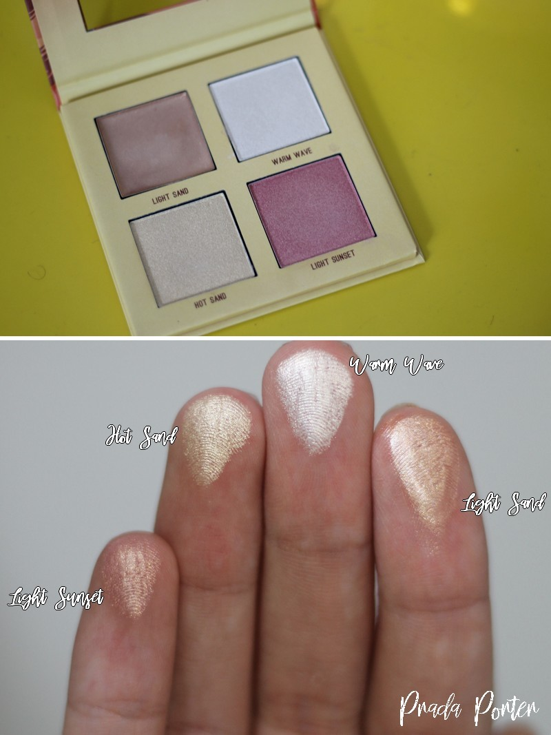 resenha Paleta de iluminadores Sunset Highlighter