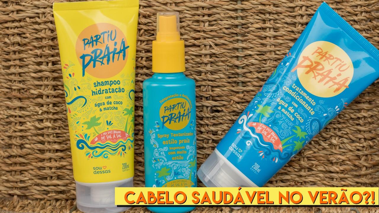cabelo saudável no verão