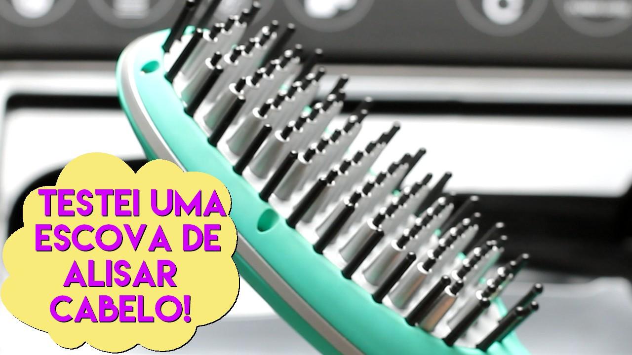escova de alisar cabelo