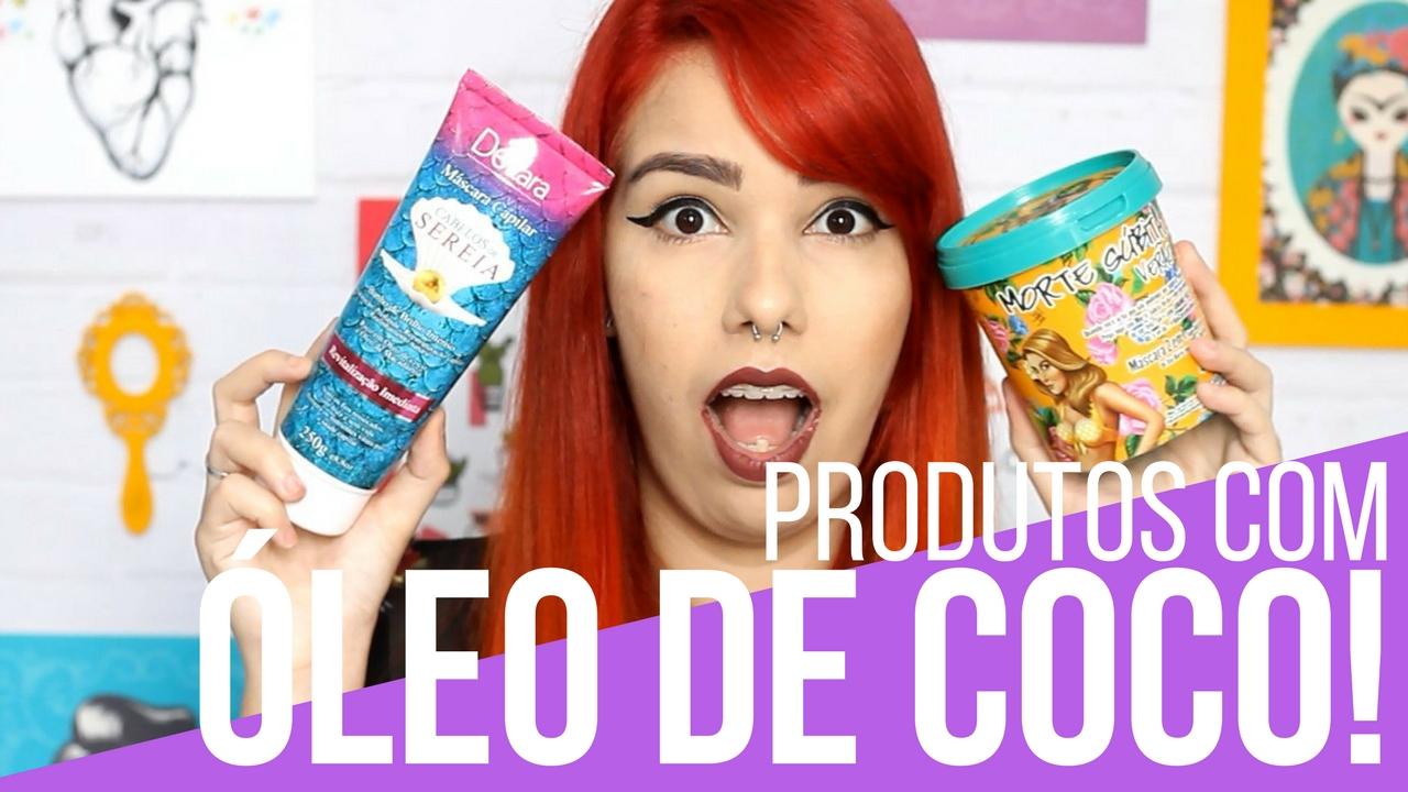 produtos com óleo de coco