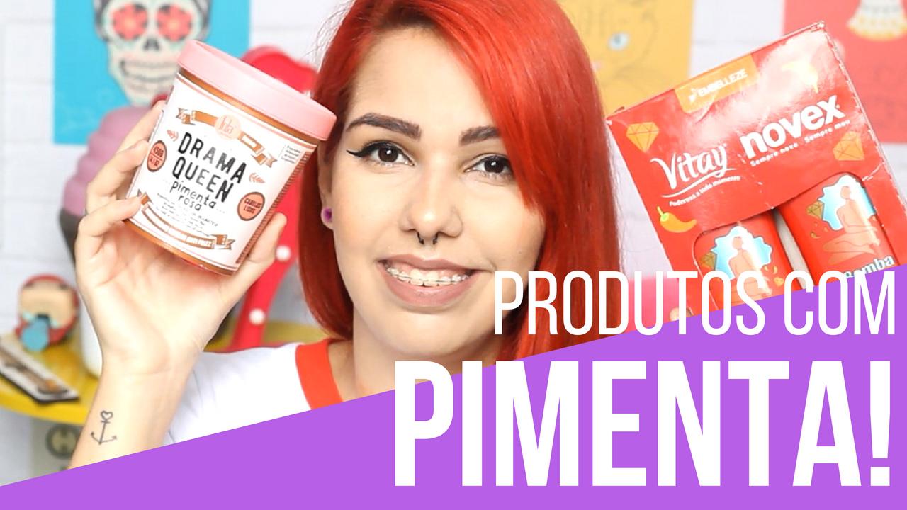 Produtos para cabelo com pimenta