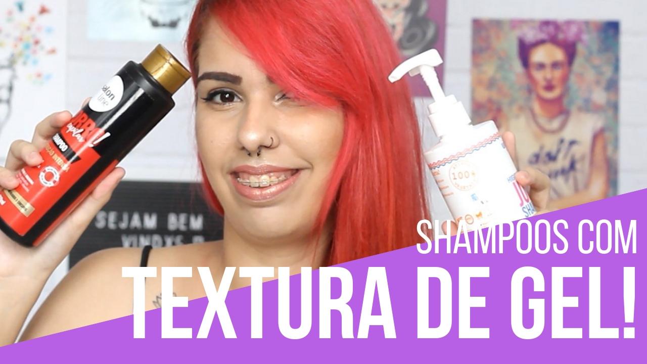 shampoos com textura gel