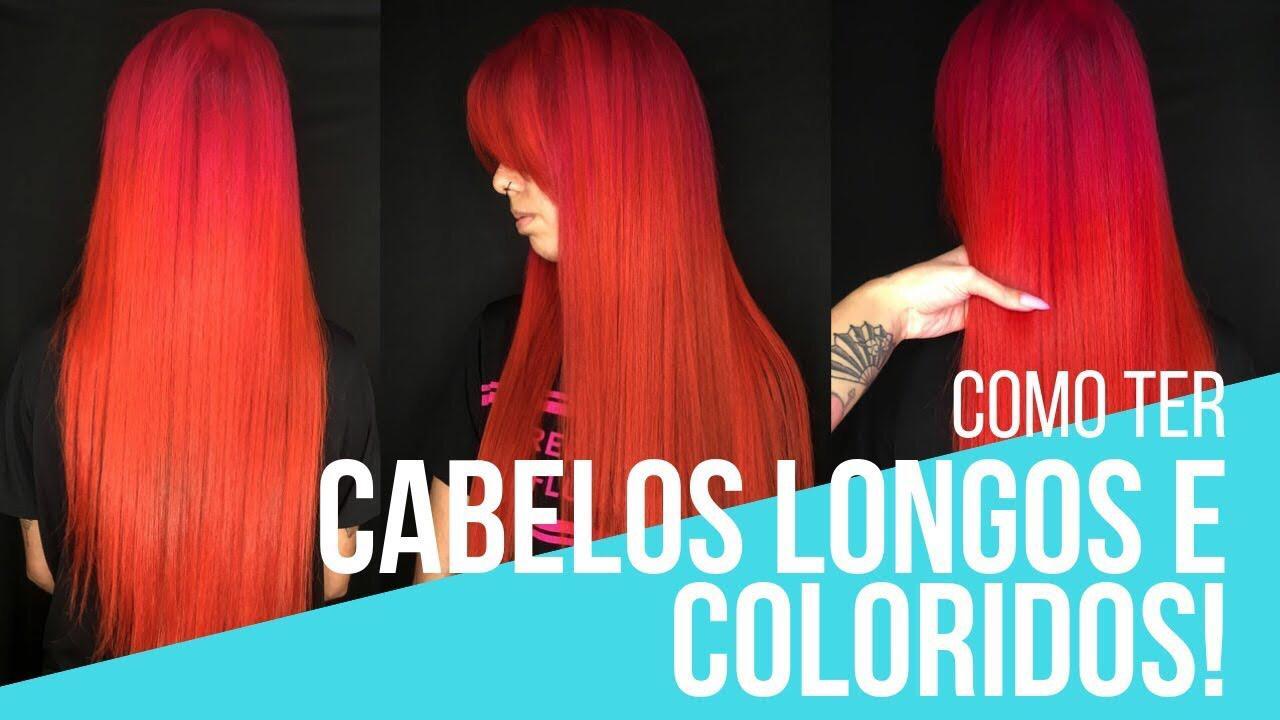 cabelos longos e coloridos