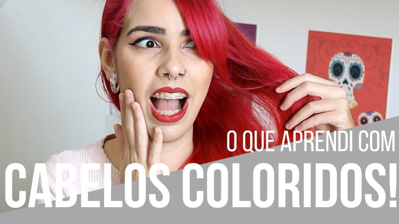 coisas que aprendi com cabelo colorido