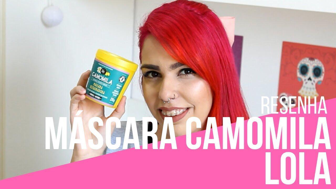 Máscara Restauradora de Camomila Lola Cosmetics