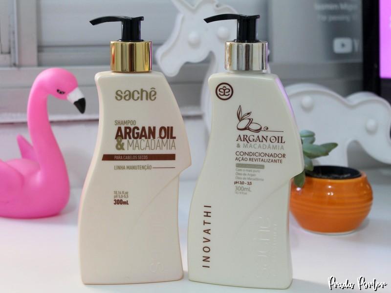 Shampoo e Condicionador Argan Oil e Macadâmia Sachê