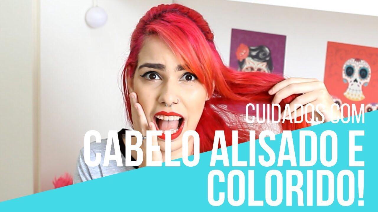 cabelos alisados e coloridos