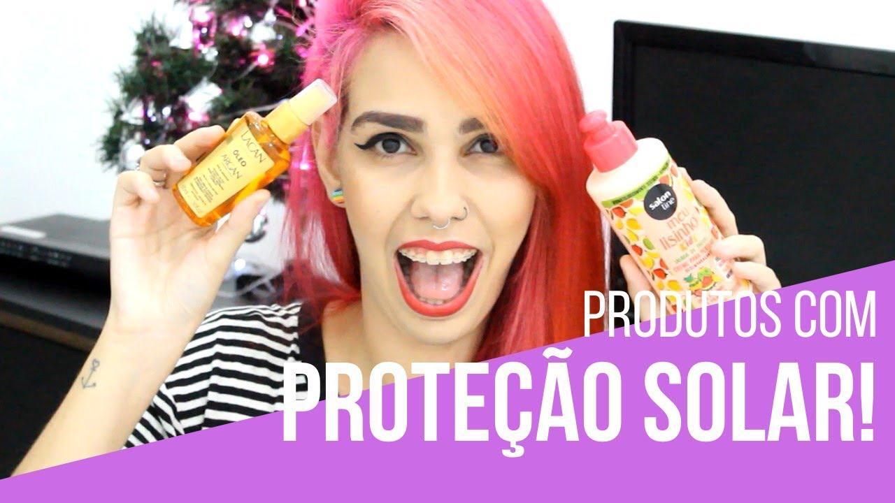 produtos com proteção solar para o cabelo