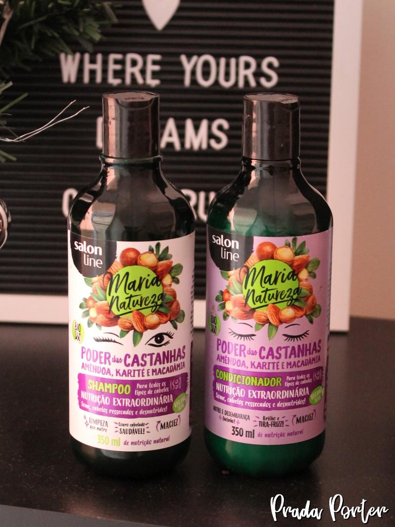 Shampoo e Condicionador Maria Natureza Poder das Castanhas