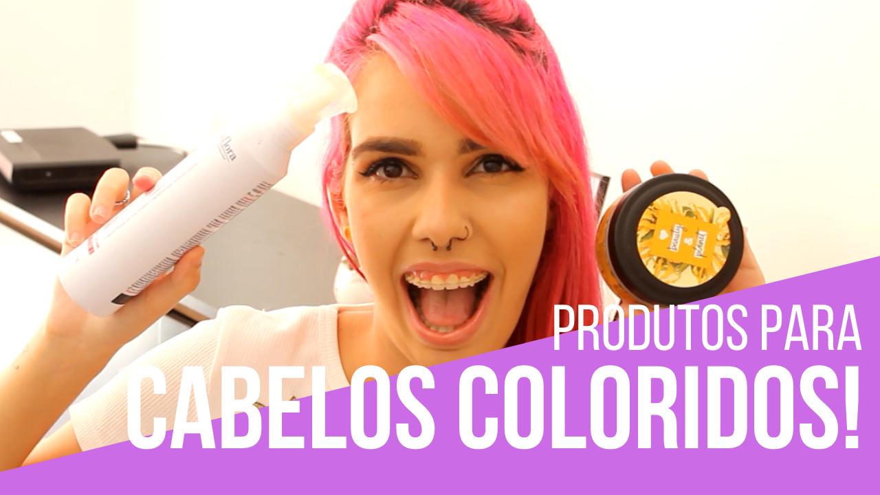 produtos essenciais para cabelos coloridos