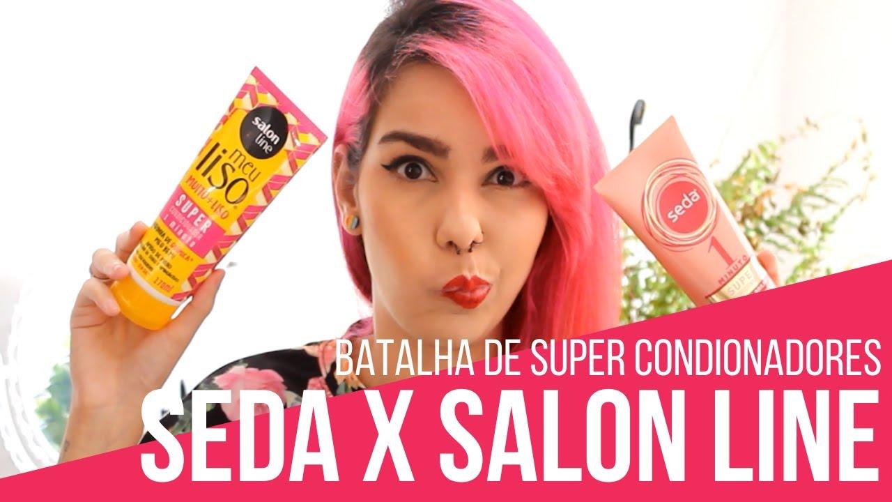 Batalha de máscaras Super Condicionador Seda x Salon Line