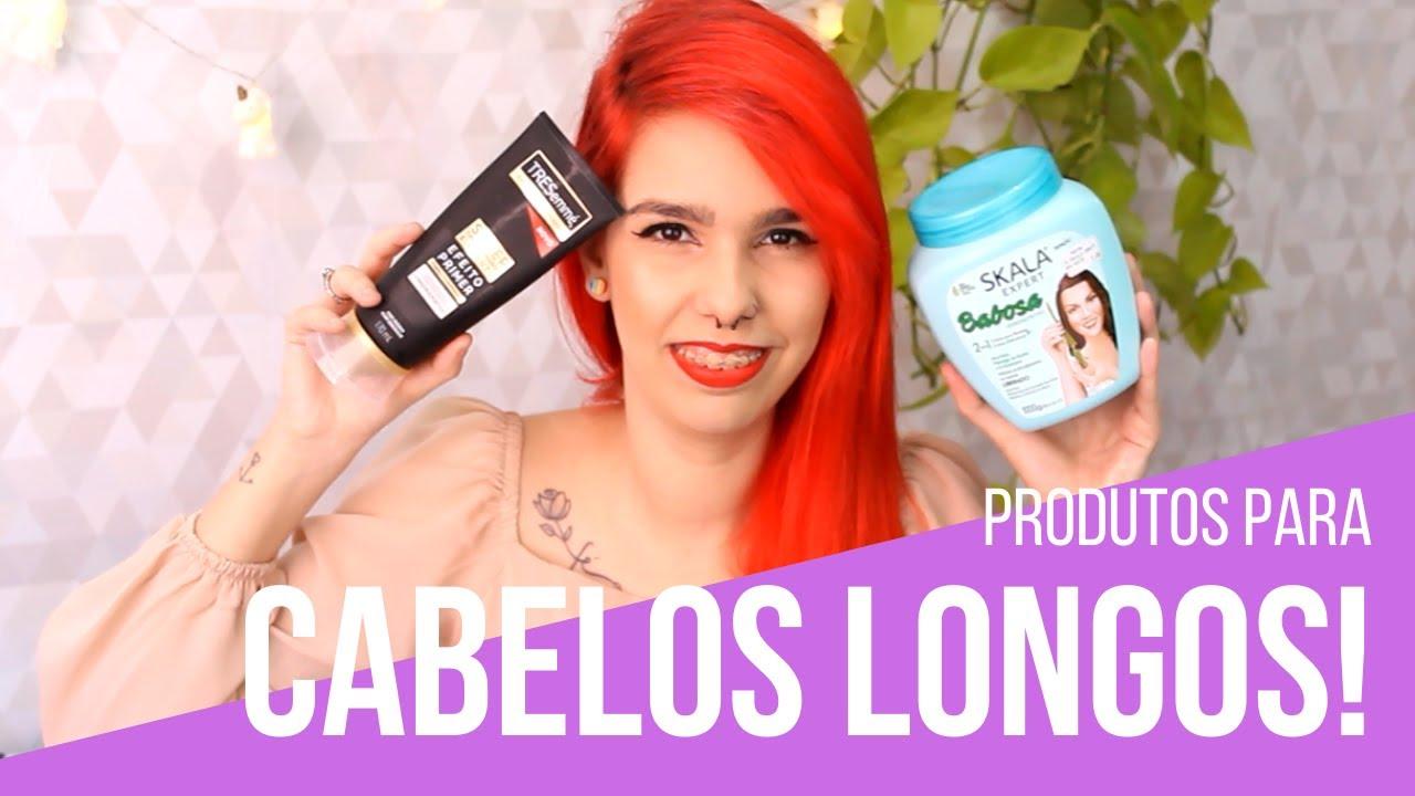 produtos para cabelos longos